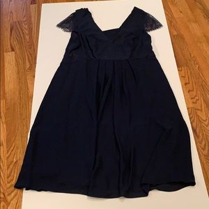 Formal/bridesmaid dress in Navy (lace caps) sz 18